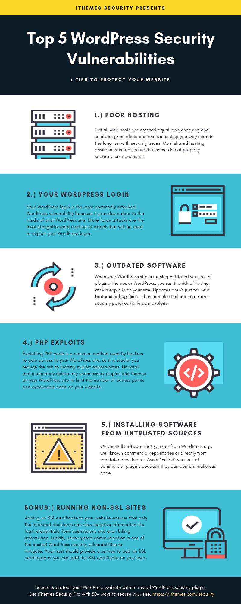 Top 5 WordPress Security Vulnerabilities - iThemes Security